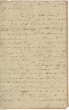 Letter from Joseph Frobisher to Simon McTavish, 7 January 1796