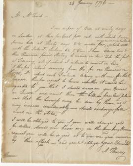 Letter from Alexander Henry to Simon McTavish, 24 January 1796