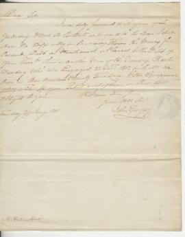 Letter from John Gregory to Henry McKenzie
